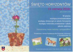 plakat Święto Horyzontów